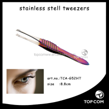 Lady Custom Colorful Design Stainless Steel Eyebrow Tweezers
