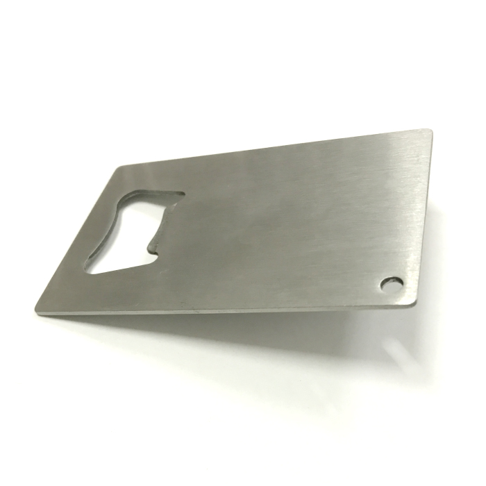 stainless steel business card beer bottle opener