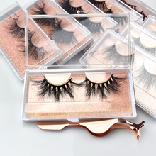 Private Label Super long dramatic 25mm Eyelashes 5D/6D Mink Lashes with FREE PACKAGE CASE