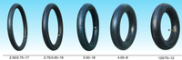 Top quality 3.50-17 motorcycle natural/butyl rubber inner tube