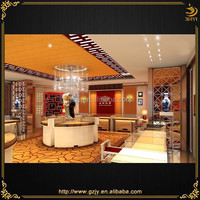 high-grade wood glass jewelry shop furniture and jewellery shop furniture design in China