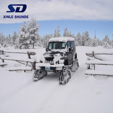 Snow Tracks for Car Snow Sweeper Rubber Track