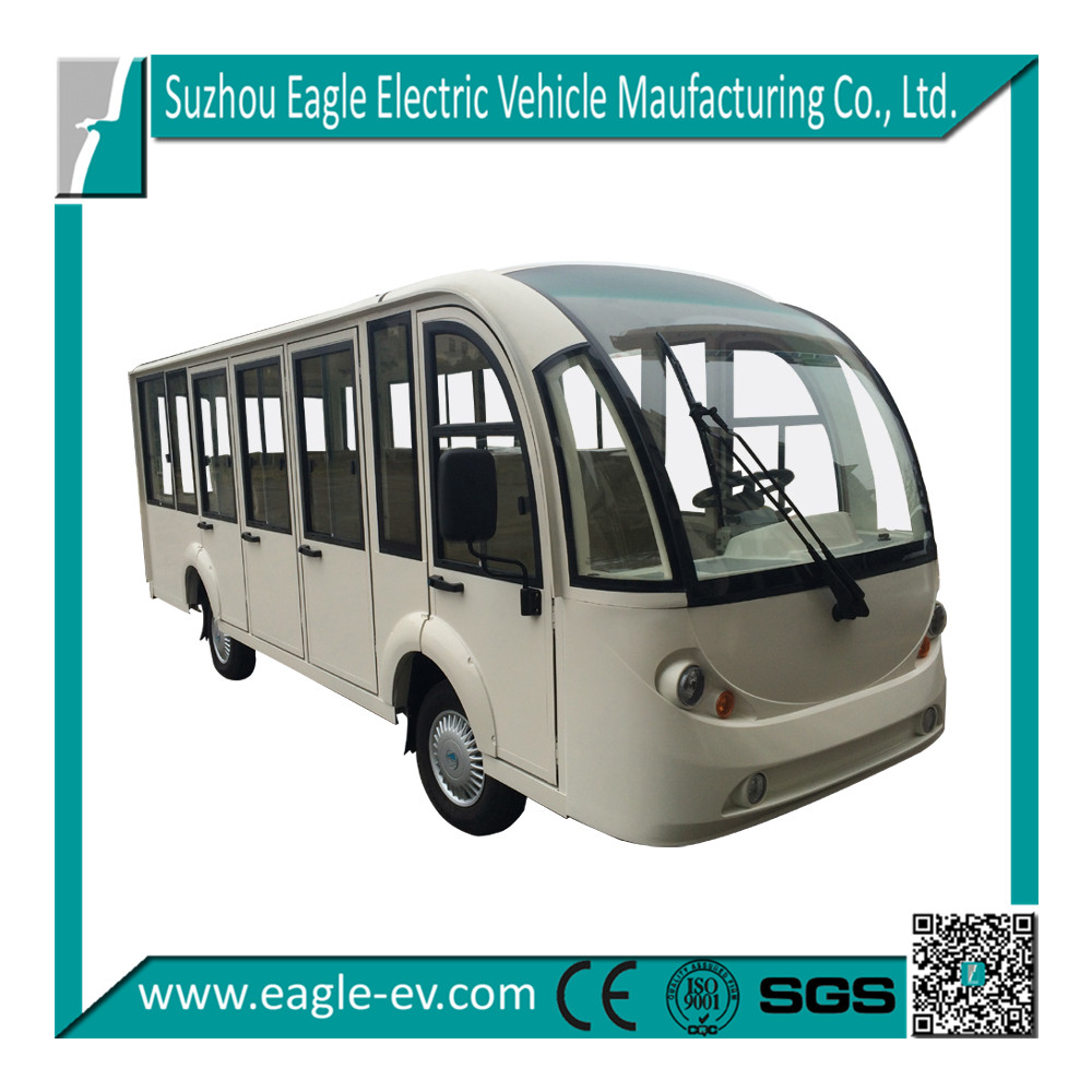 battery powered electric passenger car Electric mini bus, aluminium hard door,14 seats EG6158KF