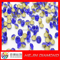 Wholesale bule sapphire chaton Pointback Hotfix crystal Rhinestone Jewellery in necklace