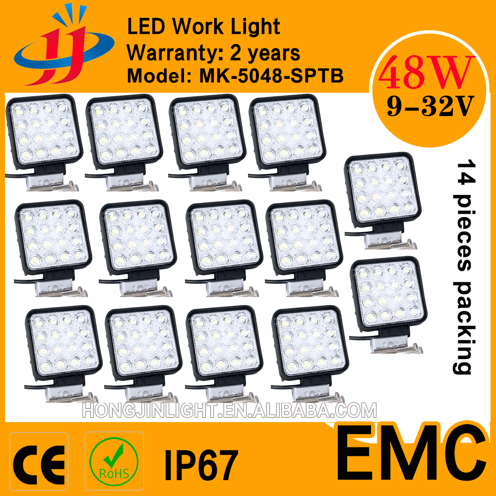 batch price 48W led work light 12v car boat truck agriculture