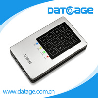 Datage up to 2TB portable AES256bit hardware encryped USB3.0 secret SSD HDD drive