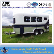China made 3 horse angle load float with kitchen