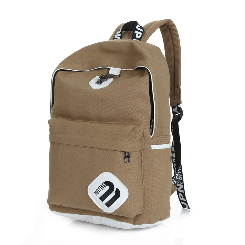 Unisex Fashionable Canvas ZIP Style Backpack School College Laptop Bag for Teens Girls Boys