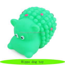 Lovely hippo dog toy, good quality dog chew toy, rubber dog toy