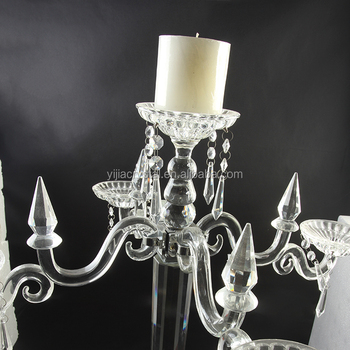 European style gorgeous design crystal waterdrop pendant with Crystal Candelabra & Centerpiece for Wedding Event