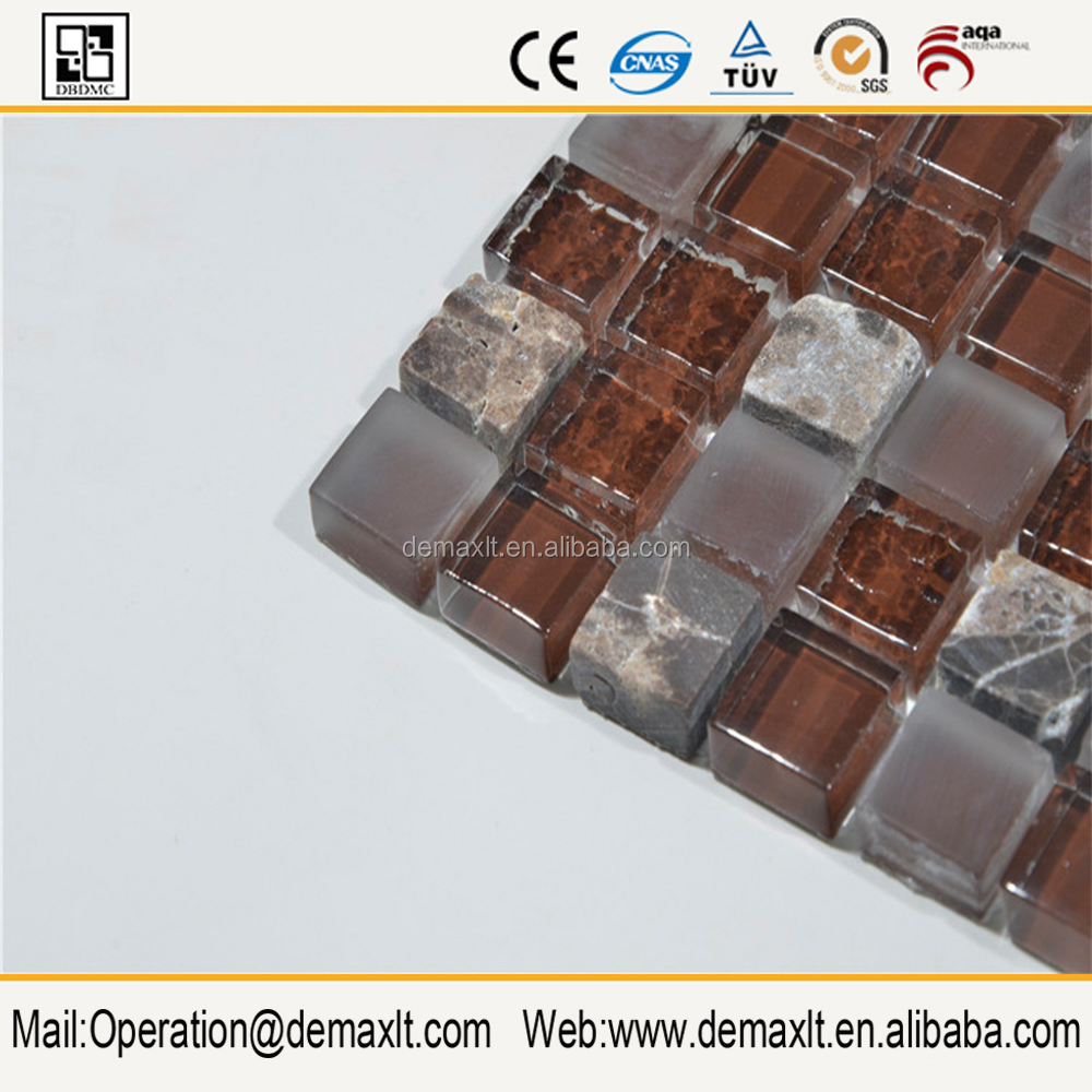 Brown glass mosaic tile,penny round glass mosaics, glass mosaic tiles bubbles