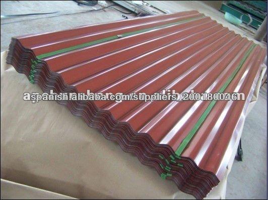 L minas para tejado de acero prepintado coated color - Material para tejados ...