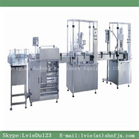 NFGXL-50 series normal saline iv solution manufacturing plant and automatic normal saline filling packing Line