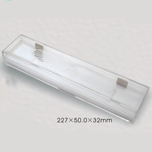 227*50*32mm Long quare glass clear crystal acrylic necklace plastic jewelry box wholesale