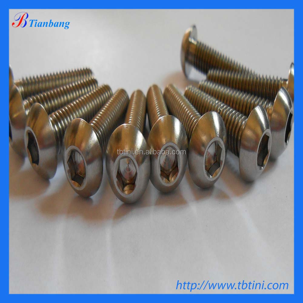 titanium hex head bolt with DIN 931 for wholesale