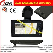 "HOT!!!recording while navigation 4.3"" Touch Screen X6 gps maps Dvr for windows ce6.0"