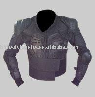 Protective armored safety jackets with chest-back protectors
