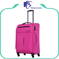 Lightweight travel house soft nylon trolley president luggage