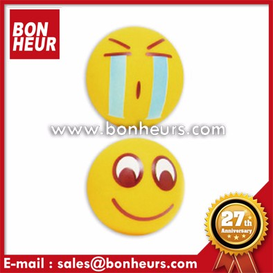 Face Emoji Toy Rubber Stress 42MM BB Squeeze Smile Ball