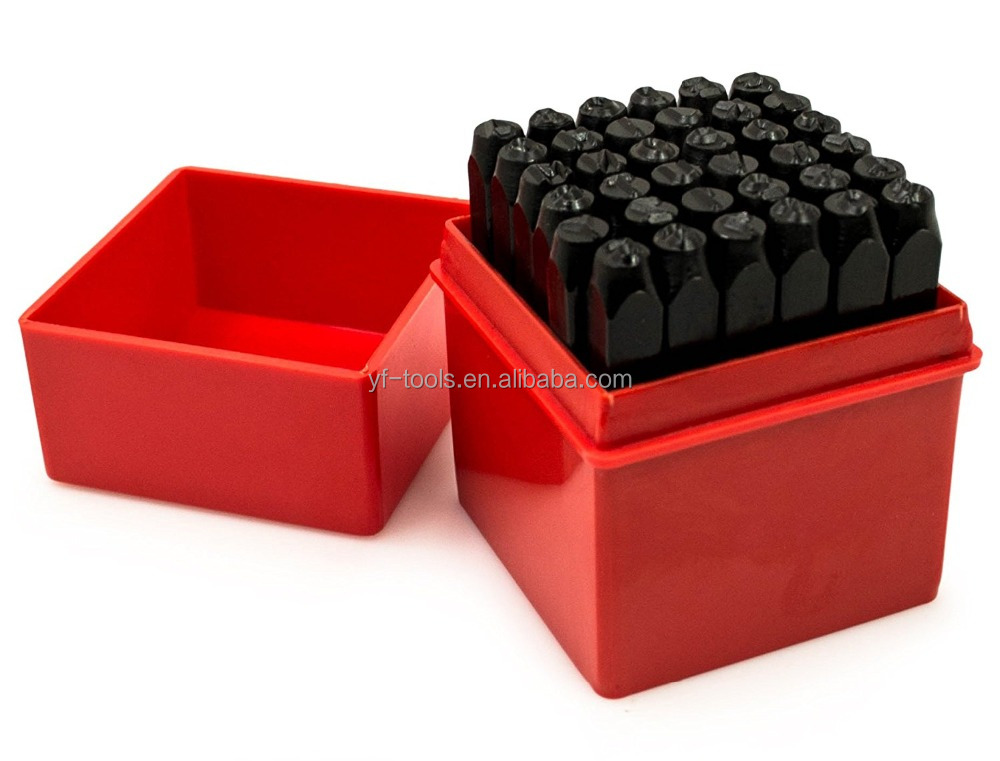 6MM 36PCS number and letter punch set punch alphabet set Stamp Tool