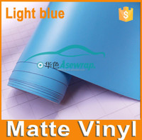 Good Quality Matte Light Blue Car Vinyl Wrap, Matte Vinyl Car Sticker Colored Matte Car Film