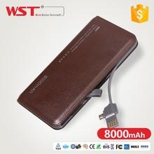 8000mah super slim portable charger power bank for mobile phone.