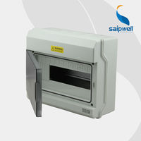 SAIP/SAIPWELL 230*273*110mm 12 way Circuit Breaker Box Plastic Electrical Waterproof Distribution Box with CE