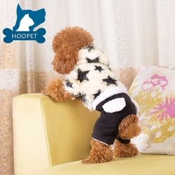 Hoopet Dog Pattern Dog Cloth Star Shape Plush Pet Clothes