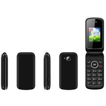 New Arrival 2.4 inch Dual Screen Wap Gprs SC6531 Gsm 4 Band FM Flip Senior Mobile Phone W600
