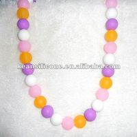 2013new design Emerald Beads Necklace Silicone Bead Necklace/Chewable Jewlery for Teething