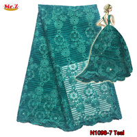 Guangzhou Embroidered African Net Lace Fabric N1098