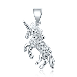 POLIVA Trendy Fashion Special 3925 Silver Chain Charms Jewelry 925 Sterling Silver Unicorn Pendant