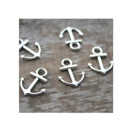 Anchor charms Antique Silver Anchor Charm Pendants 15x18mm