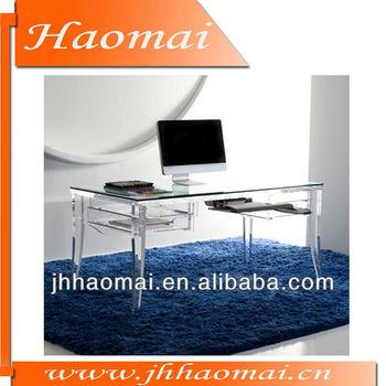 Acrylic computer desk clear,furniture computer desk,modern computer