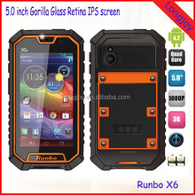 Runbo X6 Rugged Mobile Phone 5.0 Inch ips Screen MTK6589T 1.5GHz 2GB RAM 32GB ROM With Walkie Talkie