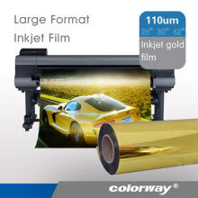 Glossy Gold Silver Inkjet Metallized PET film