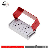 Good quality Dental Multifunction 20 Holes autoclave disinfection box/dental burs box resistant to high pressure