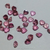 4*4mm heart cut tourmaline gemstone