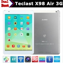 "Original Teclast X98 Air 3G Dual Boot Tablet Android 4.4+Windows 8.1 2+32GB/64GB 9.7"" 5.0+2.0MP GSM 3G WCDMA Phonecall tablet"
