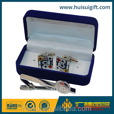 high quality wholesale custom sterling silver neck tie clip cufflink