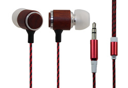 Tot High quality Fashion wood earphone Stereo bass Music earphone for MP3 And tablet PC