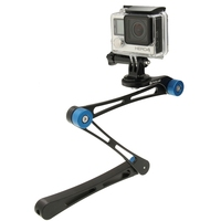 PULUZ 17 inch Adjustable CNC Aluminum Extension Magic Arm Mount Kit for Go Pro HE RO