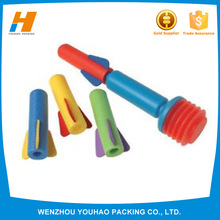 Hot selling foam toy/finger rocket with rubber band with cheap price