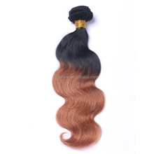 2016 best selling no shedding tangle free body wave 100% remy russian 1b 33 ombre hair extensions