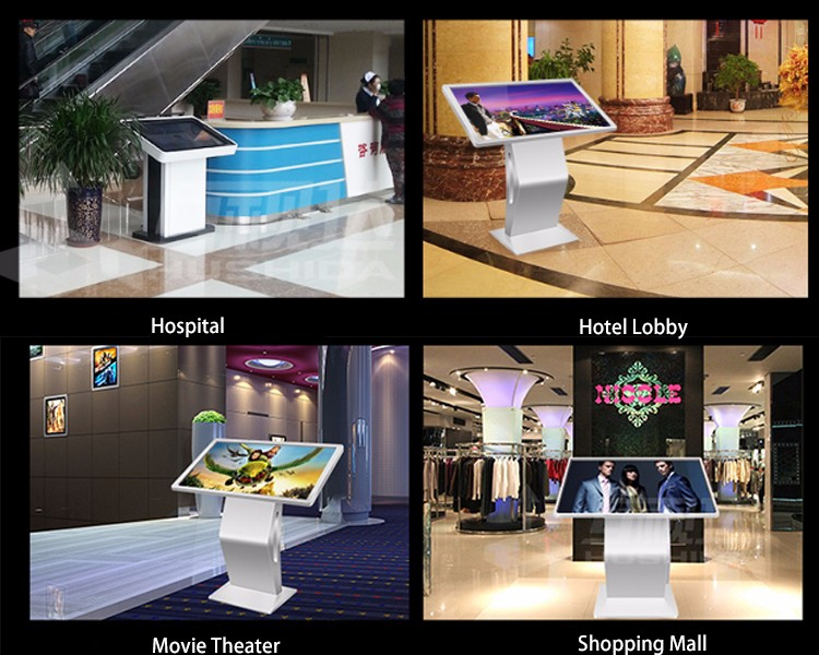 49 Inch Floor Stand LCD Touch Screen Advertising Display Kiosk