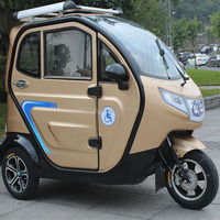 Fully enclosed cabin china battery powered bajaj three wheeler