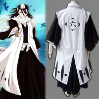 Japanese Anime Bleach Cosplay Gotei 13 the Captain of the 6th Division Byakuya Kuchiki Kimono Halloween Costume Custom Wholesale