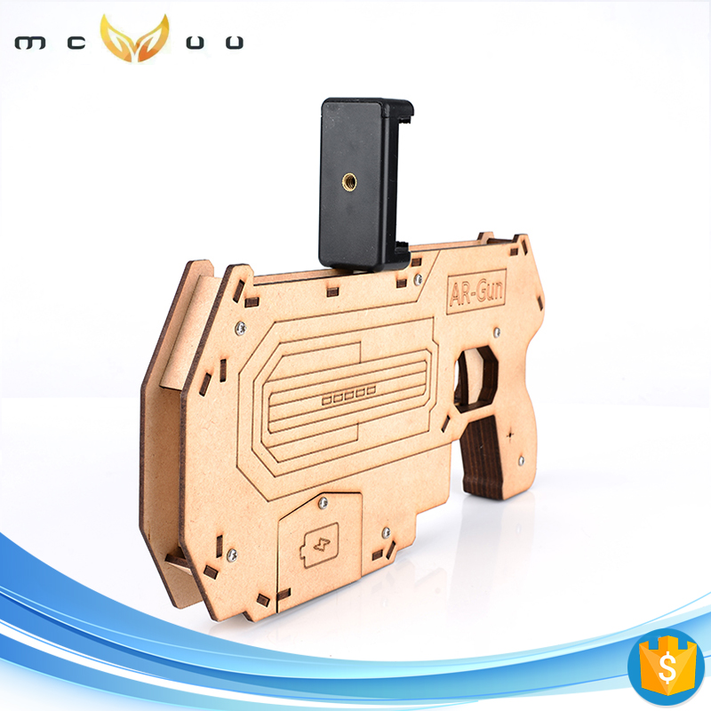 distributor wanted Reality Experience wood AR gun game kids toy guns
