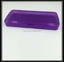 Custom printed large size clear plastic pencil case/box for school & office