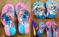 TF-031507200022 newest 2015 children flip flop slippers girl high heel flip flops frozen